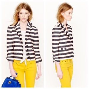 J.Crew Collection Legion Stripe Jacket Sz 6